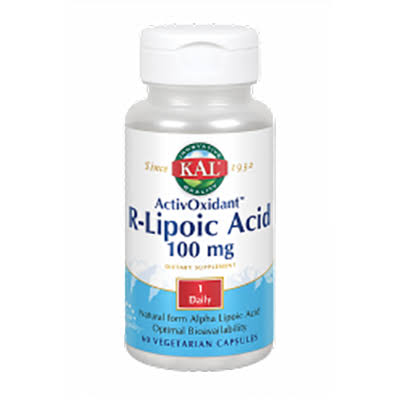 KAL Activoxidant R Lipoic Acid Supplement - 100mg, 60 Capsules