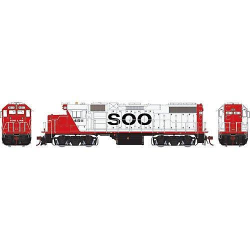 Athearn Genesis Ho GP38-2 w/DCC & Sound, SOO/Red & White #4511