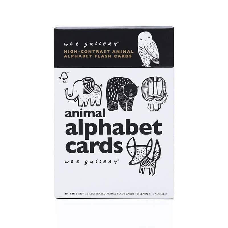 Wee Gallery Animal Alphabet Learning Cards