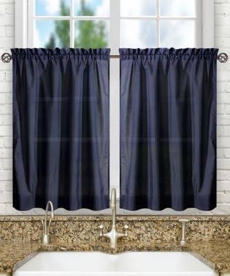 Ellis Curtain Stacey Solid Tier Curtains Navy