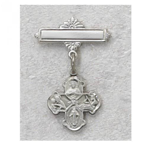 McVan Sterling Silver 4-Way Scapular Baby Pin