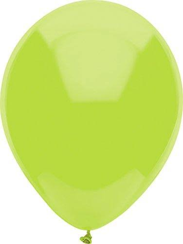 "PartyMate 12"" Round Solid Color Latex Balloons, 72-Count, Kiwi Lime"