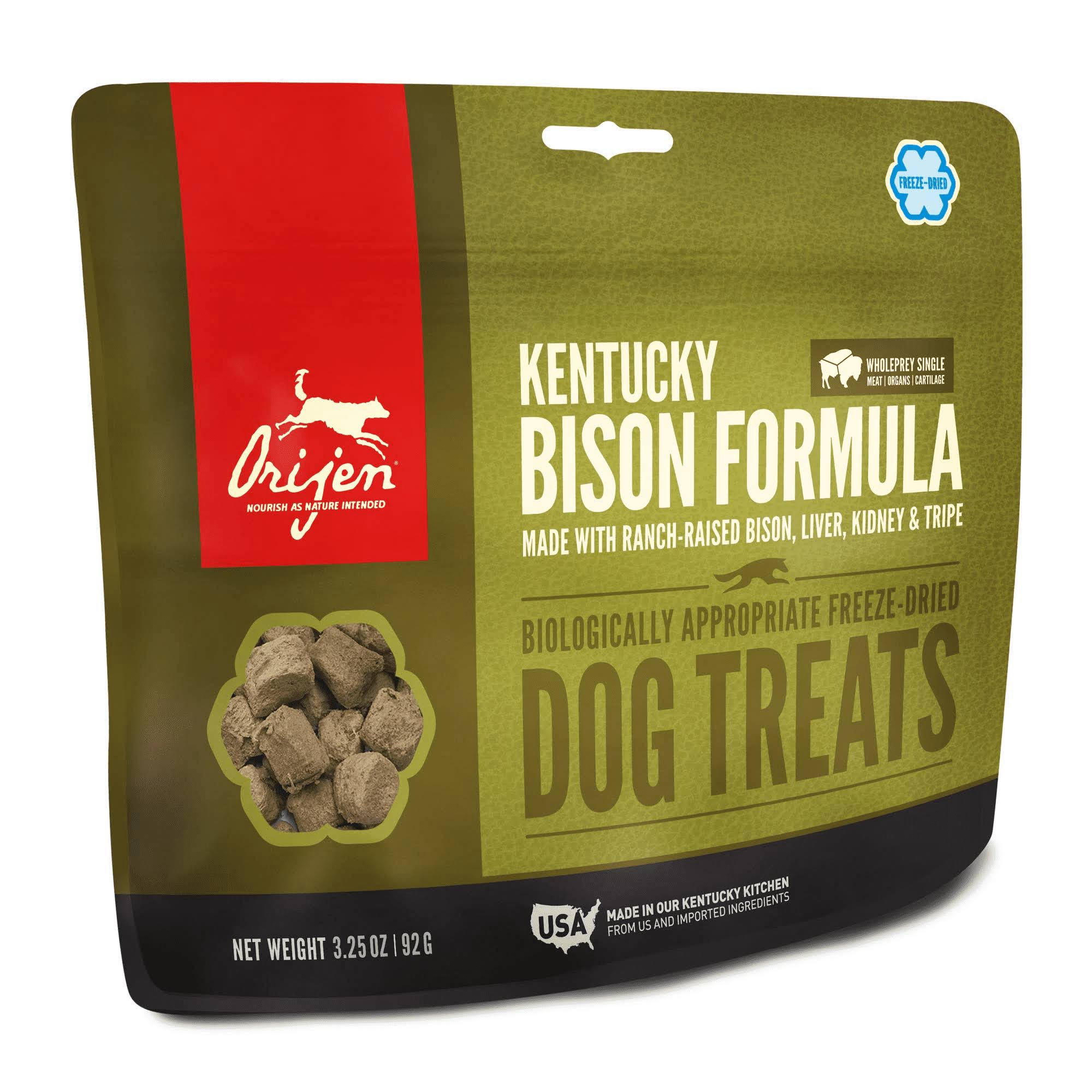 ORIJEN Freeze Dried Dog Treats, Kentucky Bison / 3.25 oz