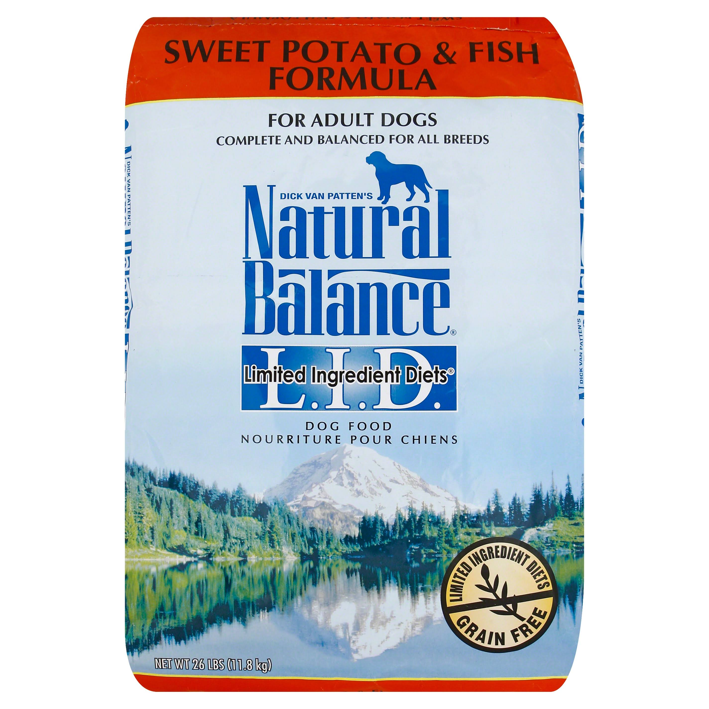 Natural Balance Limited Ingredient Diet Dog Food - Sweet Potato and Fish, Dry, 26lb
