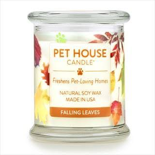 Pet House Falling Leaves Candle