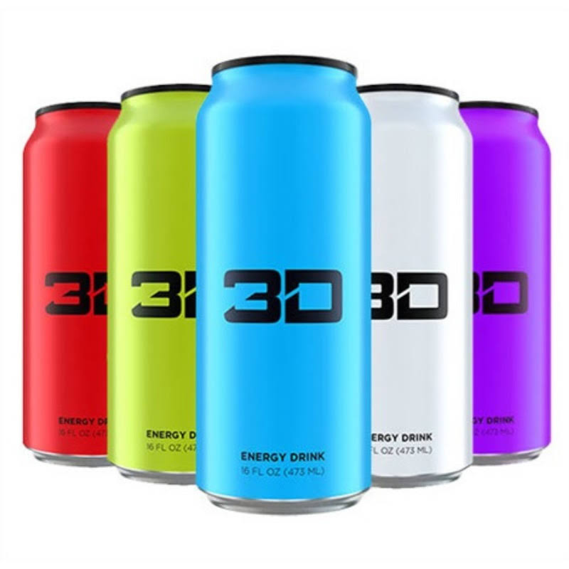 3D Energy Drinks - Purple