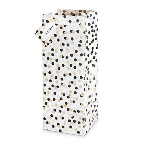 Tuxedo Dots Liquor and Champagne Bag by Cakewalk