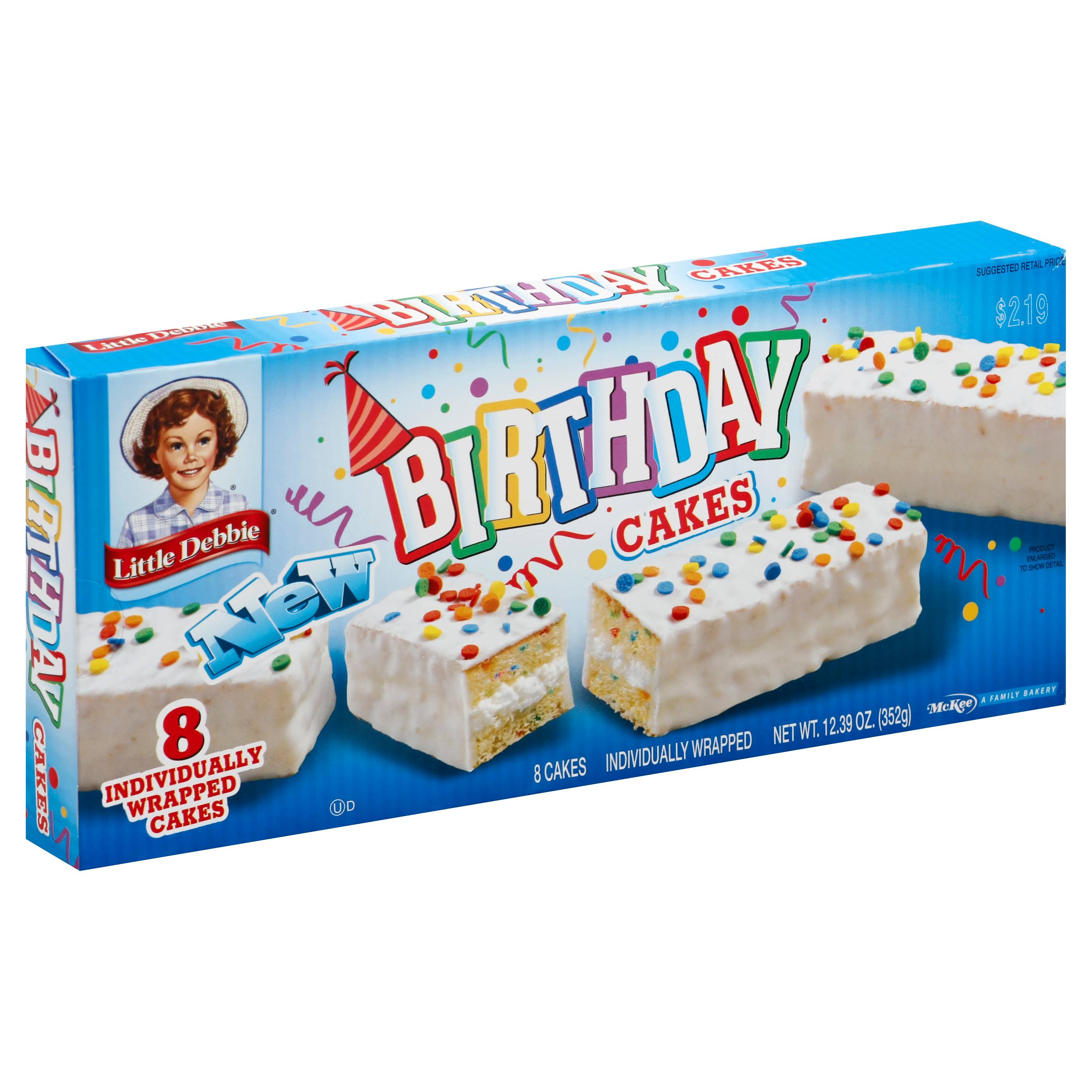 Little Debbie Birthday Cakes - 8 cakes, 12.39 oz