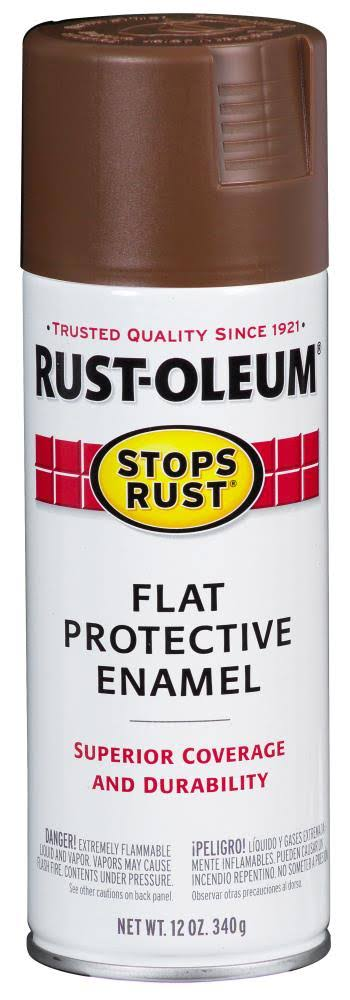 Rust-Oleum Flat Protective Enamel Spray Paint - Brown