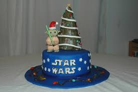Rice Krispie Christmas Tree Cake by Star Wars Christmas Cake Cloud Nine Confections