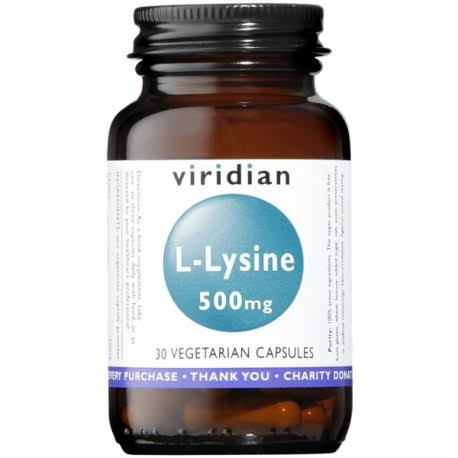Viridian L-Lysine 500mg Food Supplement - 30 Capsules