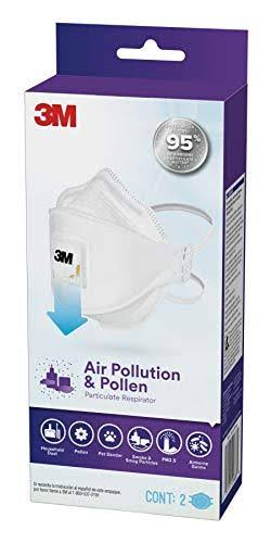 3M Air Pollution and Pollen Particulate Respirator - 2ct