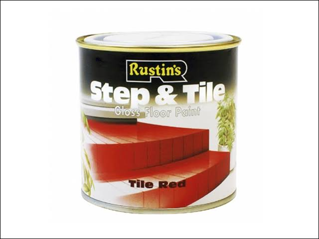 Rustins Step and Tile Gloss Floor Paint - Red, 500ml