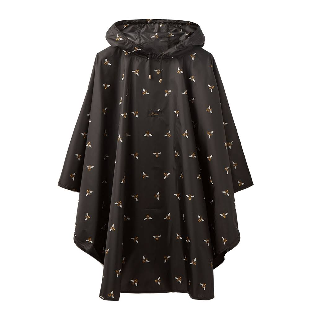 Joules Women's Poncho - Black Bee, One Size