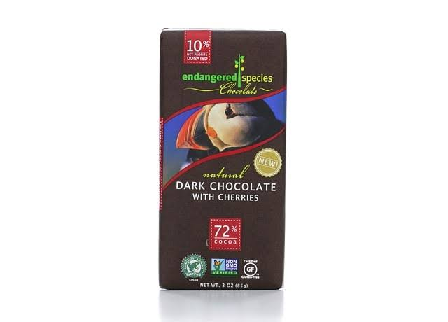 Endangered Species Dark Chocolate with Cherries - 85g