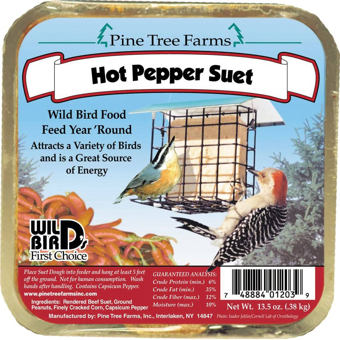 Pine Tree Farms Hot Pepper Suet Cake 12 Ounce