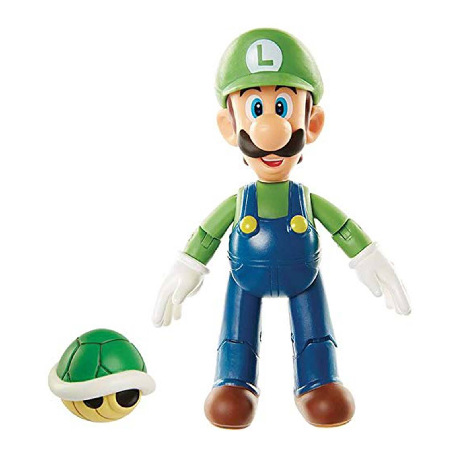 World of Nintendo Action Figure - Luigi With Koopa Shell, 4""