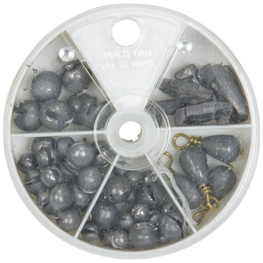 South Bend 1001 Assorted Fishing Sinker Pack - 72pcs