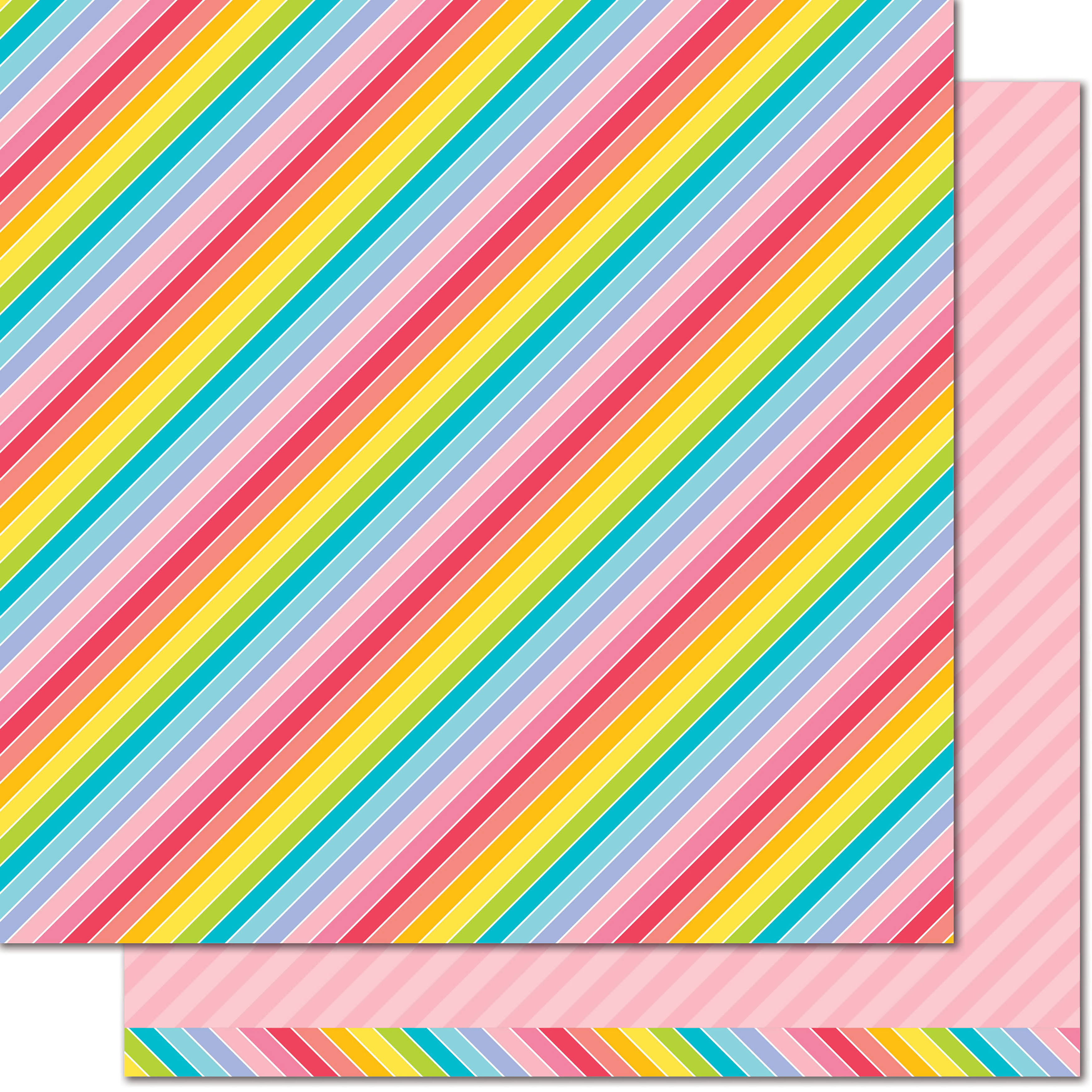 Lawn Fawn Really Rainbow Pink Tutu Paper
