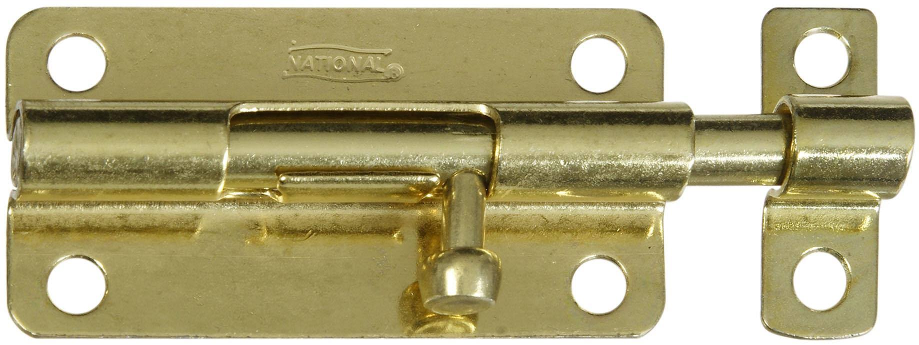 "National Hardware 4"" Brass Barrel Bolt"