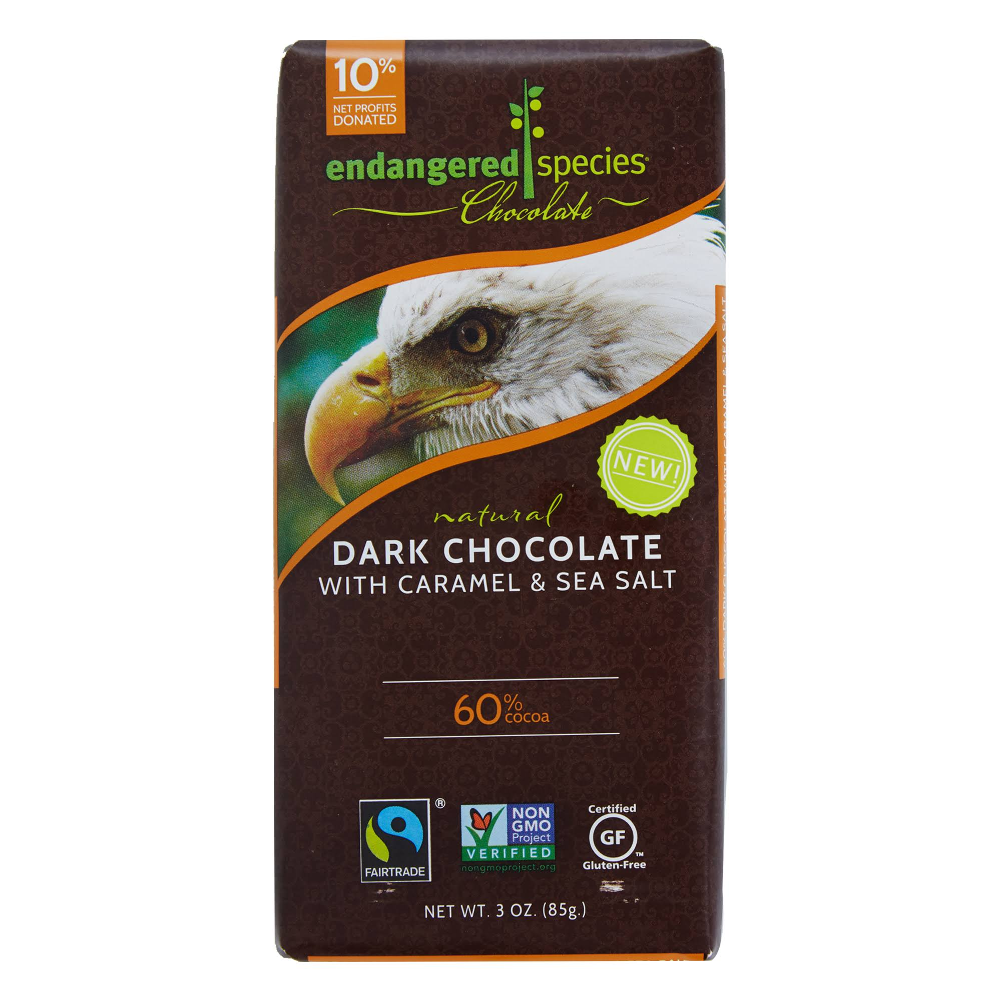 Endangered Speicies Natural Dark Chocolate With Caramel & Sea Salt - 85g