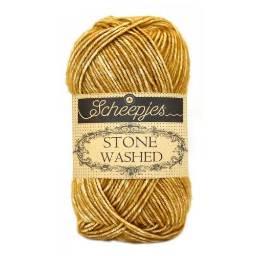 Scheepjes Stone Washed Yarn - 809 Yellow Jasper, 50g
