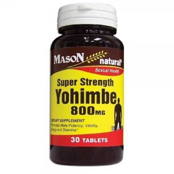 Mason Natural Super Strength Yohimbe Supplements - 30ct