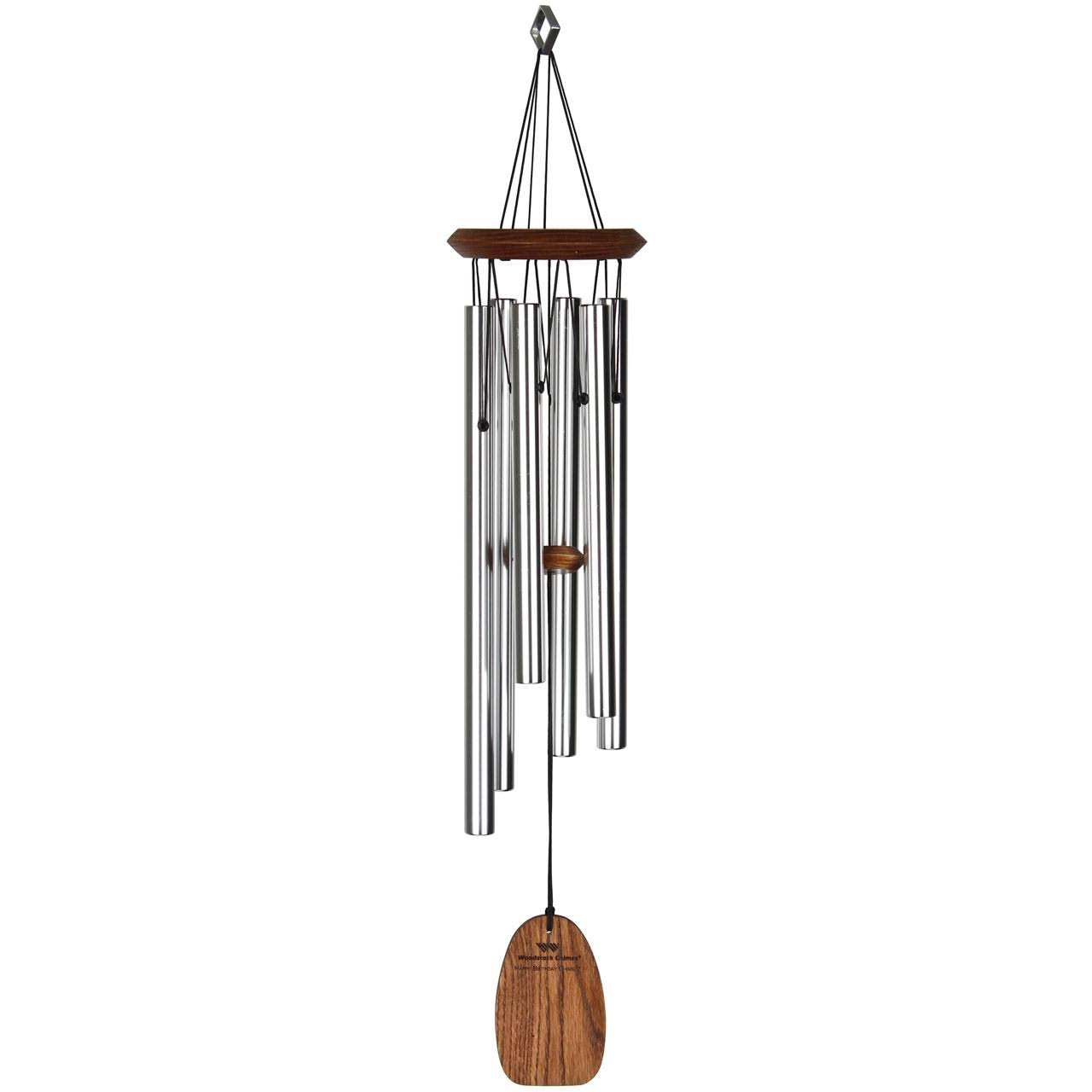 Woodstock Chimes Sound Rattle Metal Wind Chime - Silver