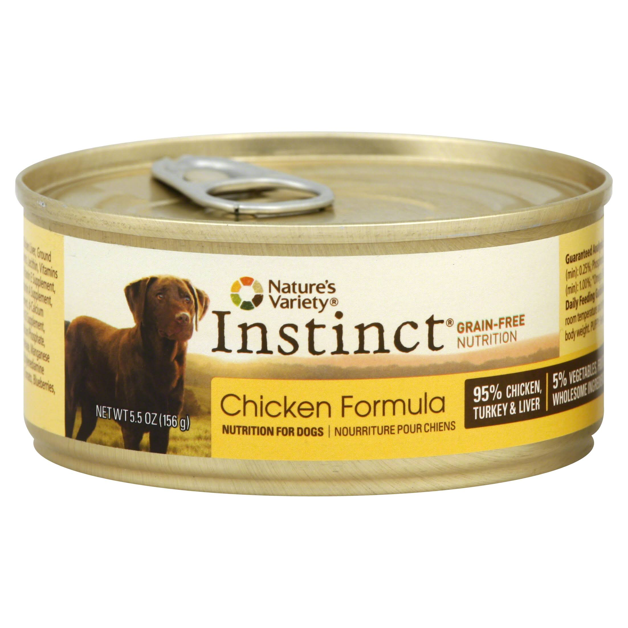 Nature's Variety Instinct Grain-Free Canned Dog Food - Chicken, 5.5 Oz