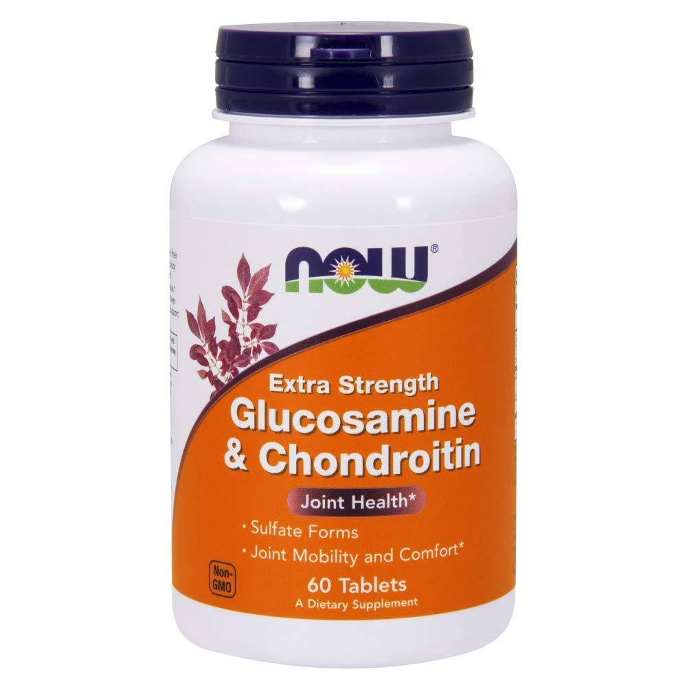Now Foods Glucosamine and Chondroitin Supplement - Extra Strength, 60 Tablets