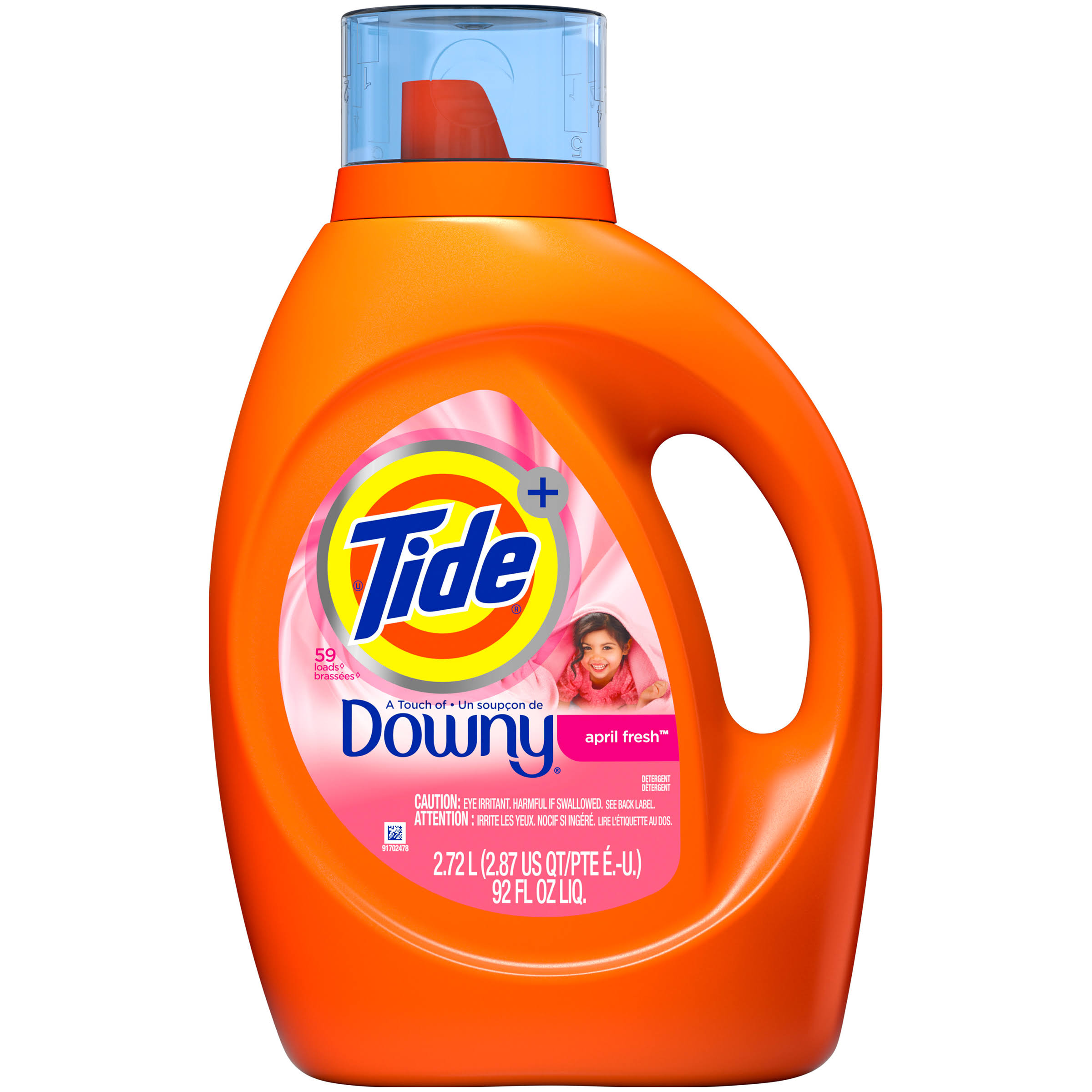 Tide Plus a Touch of Downy Liquid Laundry Detergent - April Fresh Scent, 92oz
