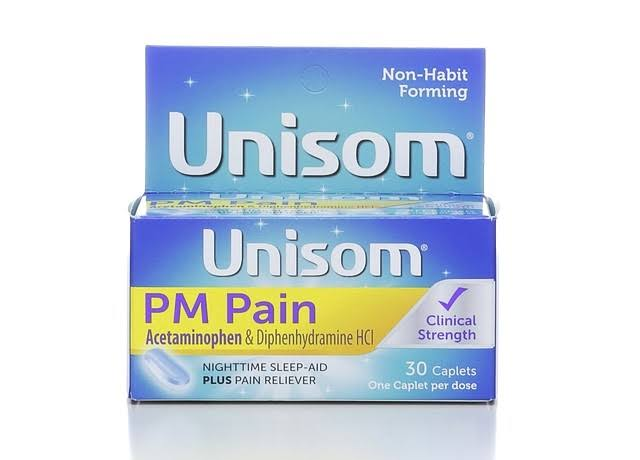 Unisom PM Pain Nighttime Sleep Aid Plus Pain Reliever Caplets - 30ct