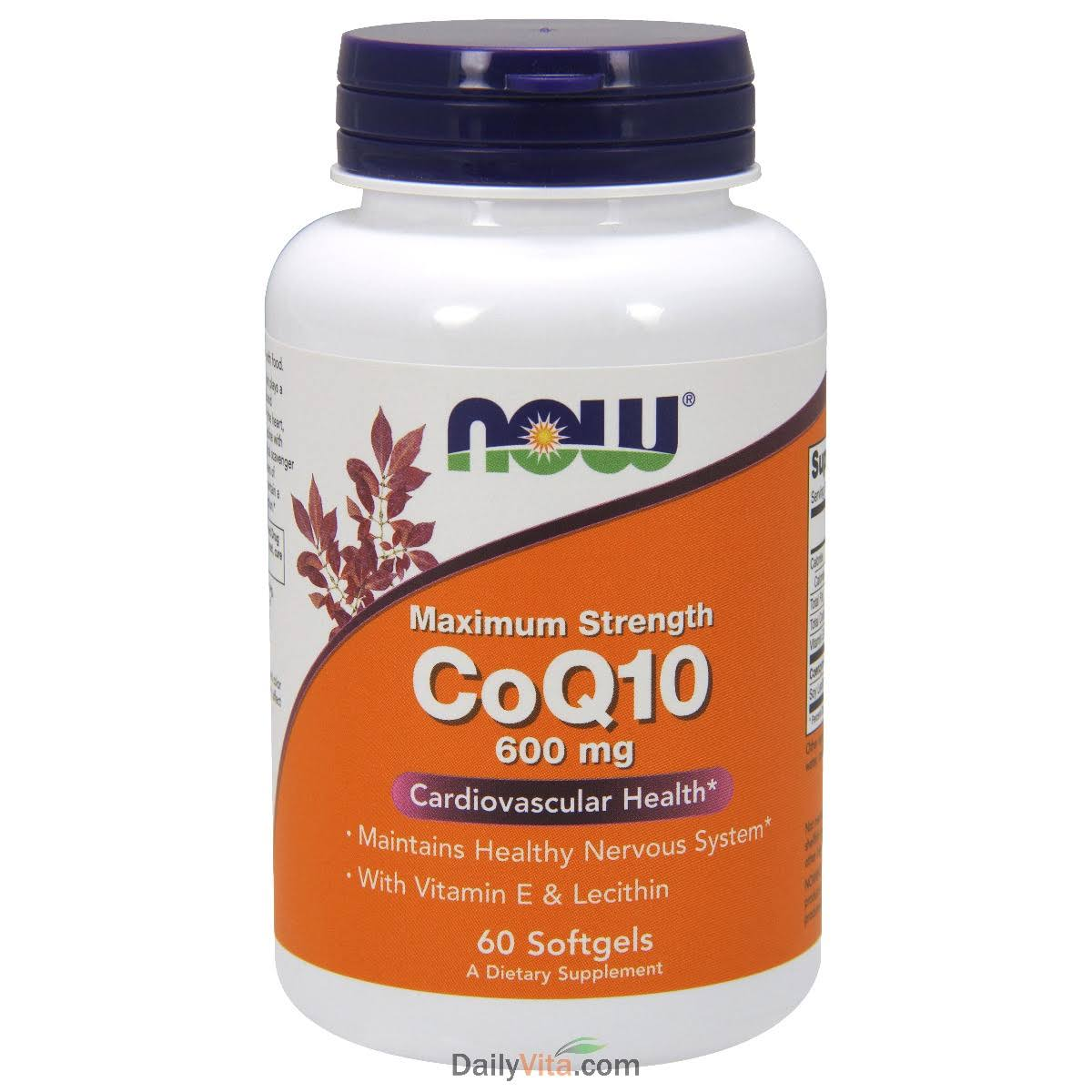 Now Foods CoQ-10 Supplement - 600mg, 60ct