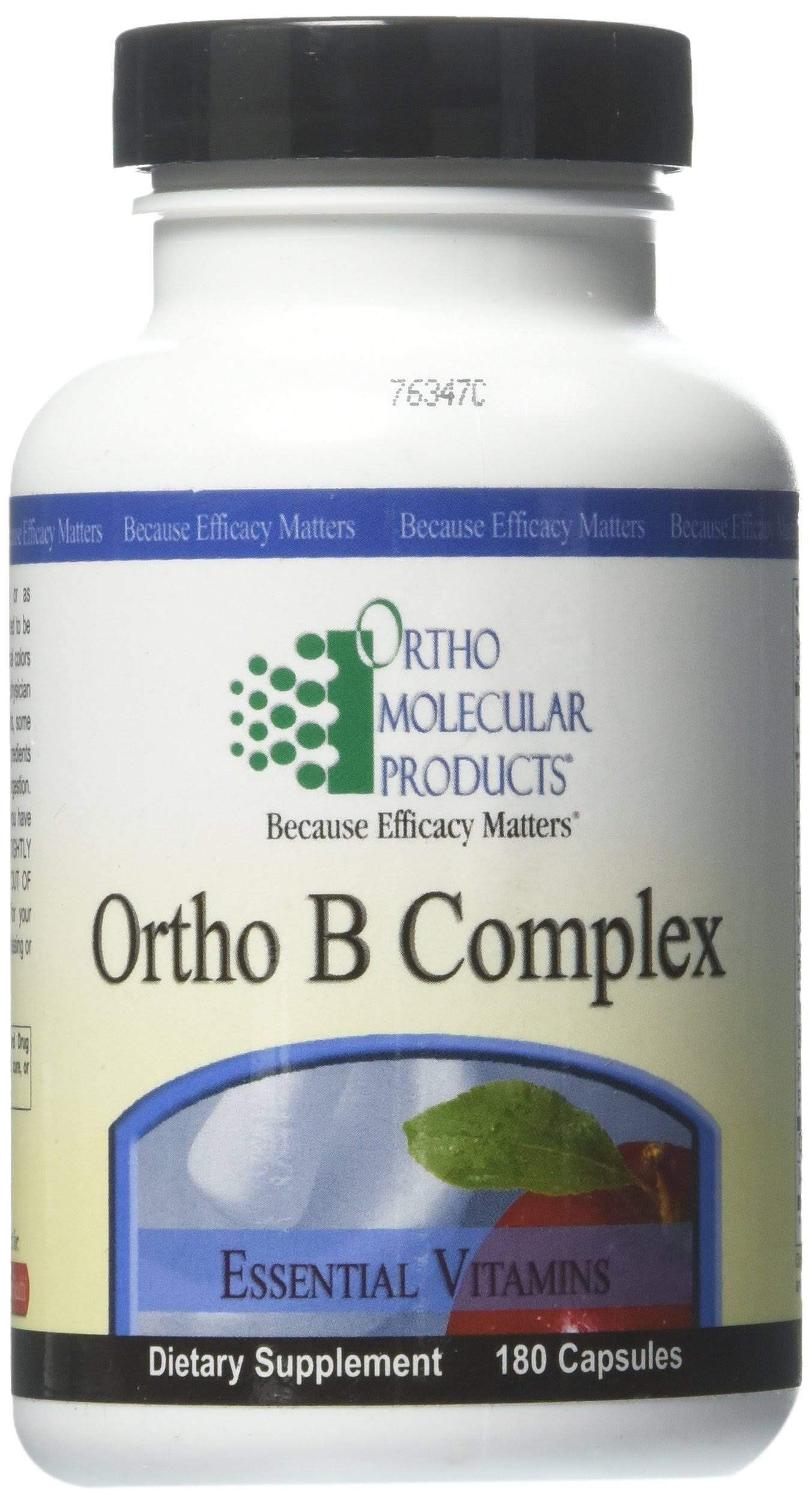Ortho Molecular Ortho B Complex Supplements - 180ct