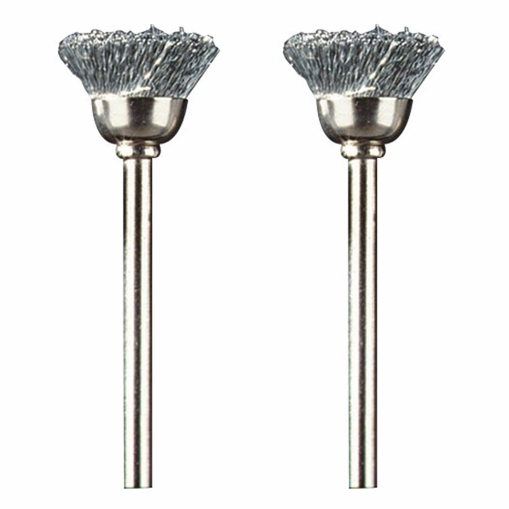 Dremel Carbon Steel Brushes - 2 Pack, 1/2""