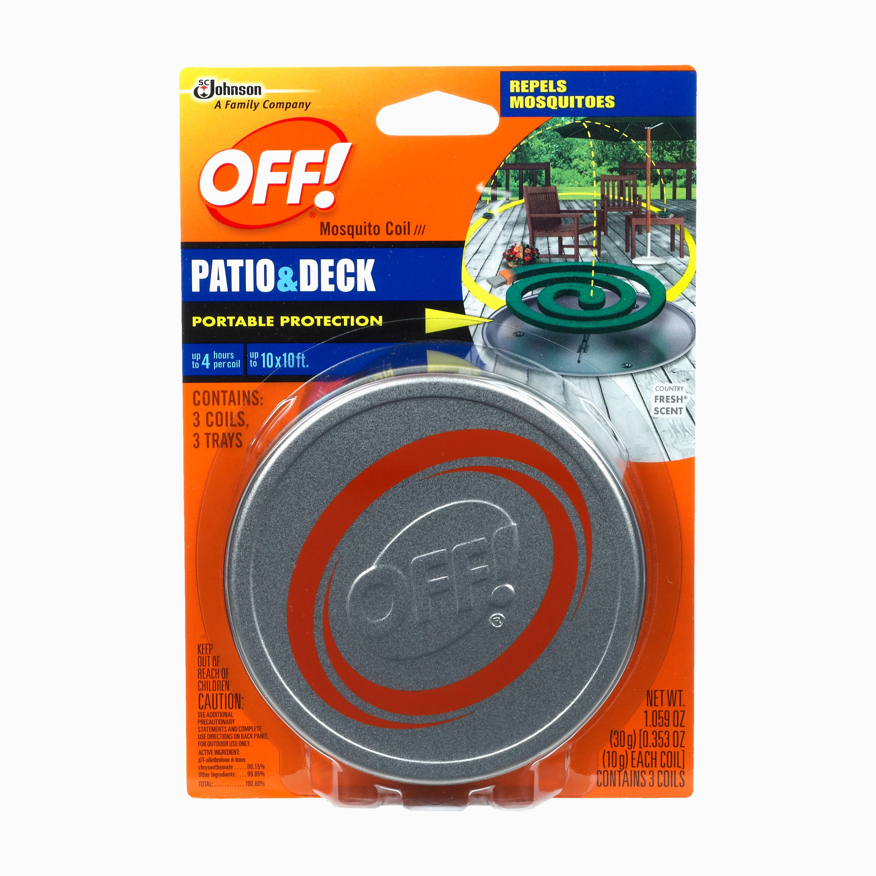 Off Patio and Deck Mosquito Repellent - 3 Coils, 3 Traps