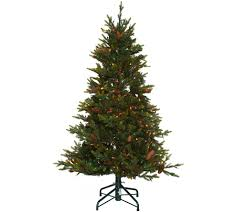Vickerman Flocked Slim Christmas Tree by Christmas Trees U2014 Qvc Com