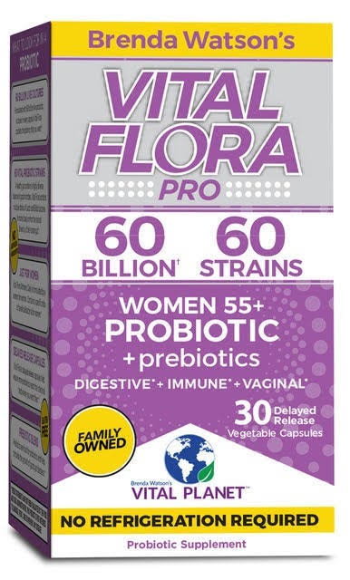 Vital Flora 60 Billion 60 Strain, Women 55+ Vital Flora 30 vcaps