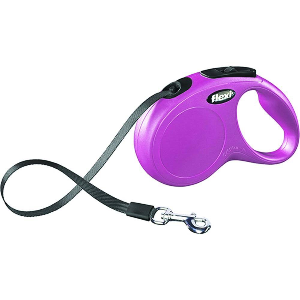 Flexi Classic Retractable Dog Leash - Pink, Small, 16'