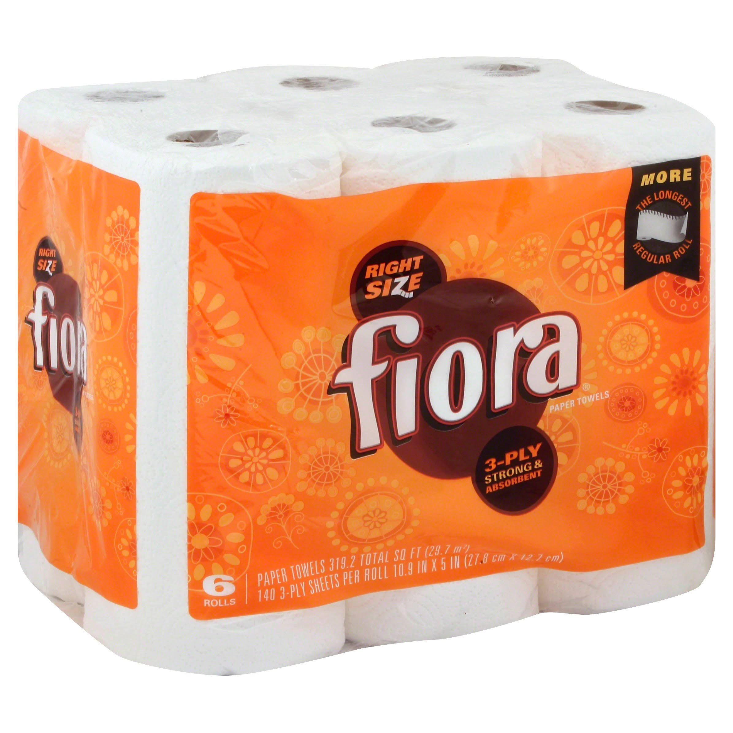 Fiora Paper Towels - 6 Giant Rolls