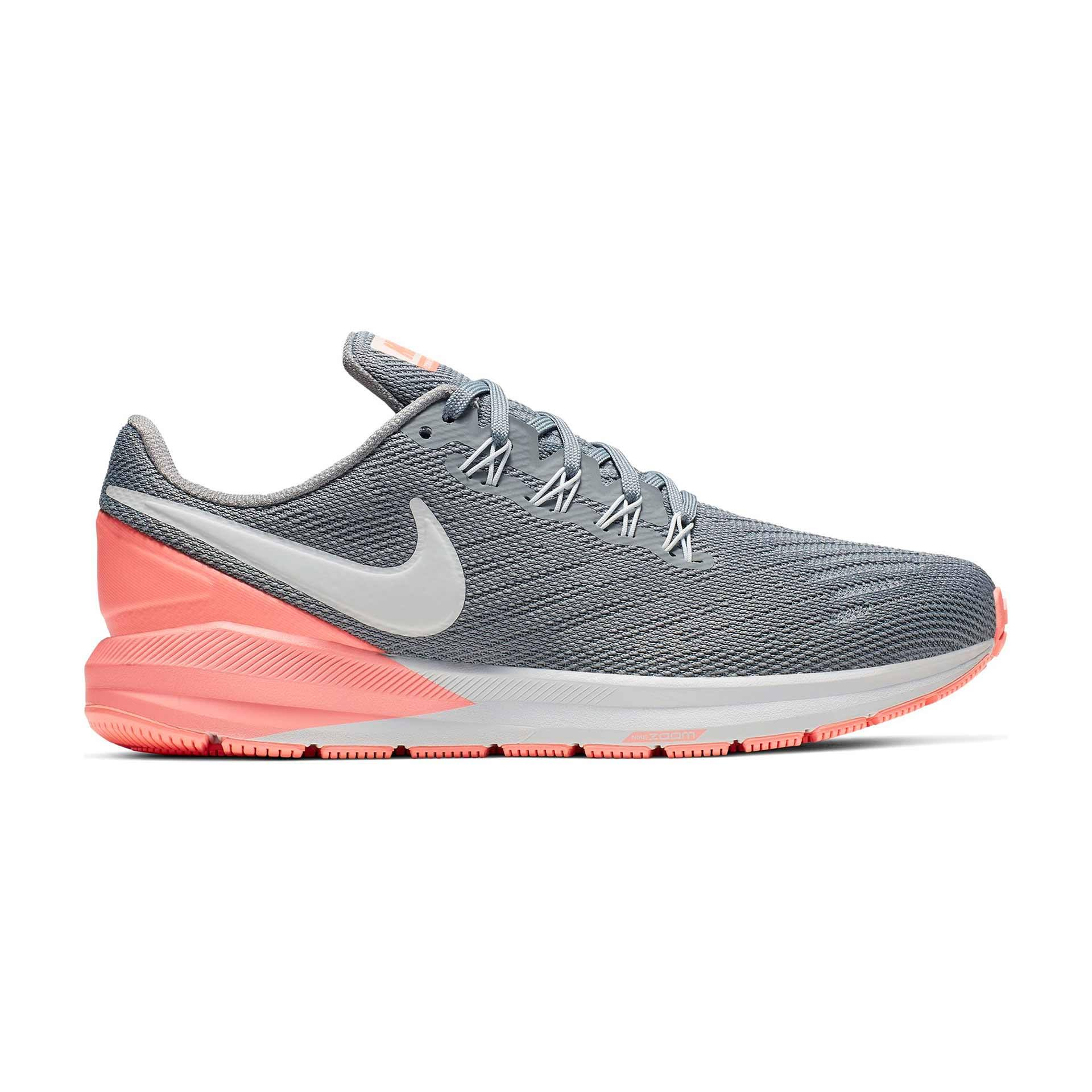 Nike Womens Air Zoom Structure 22 - Grey - 5