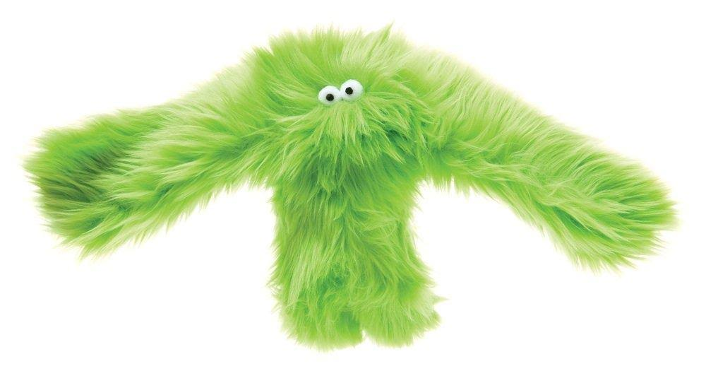 "West Paw Design Baby Salsa Orangutan Squeak Dog Toy - Lime, 20"" X 14"""