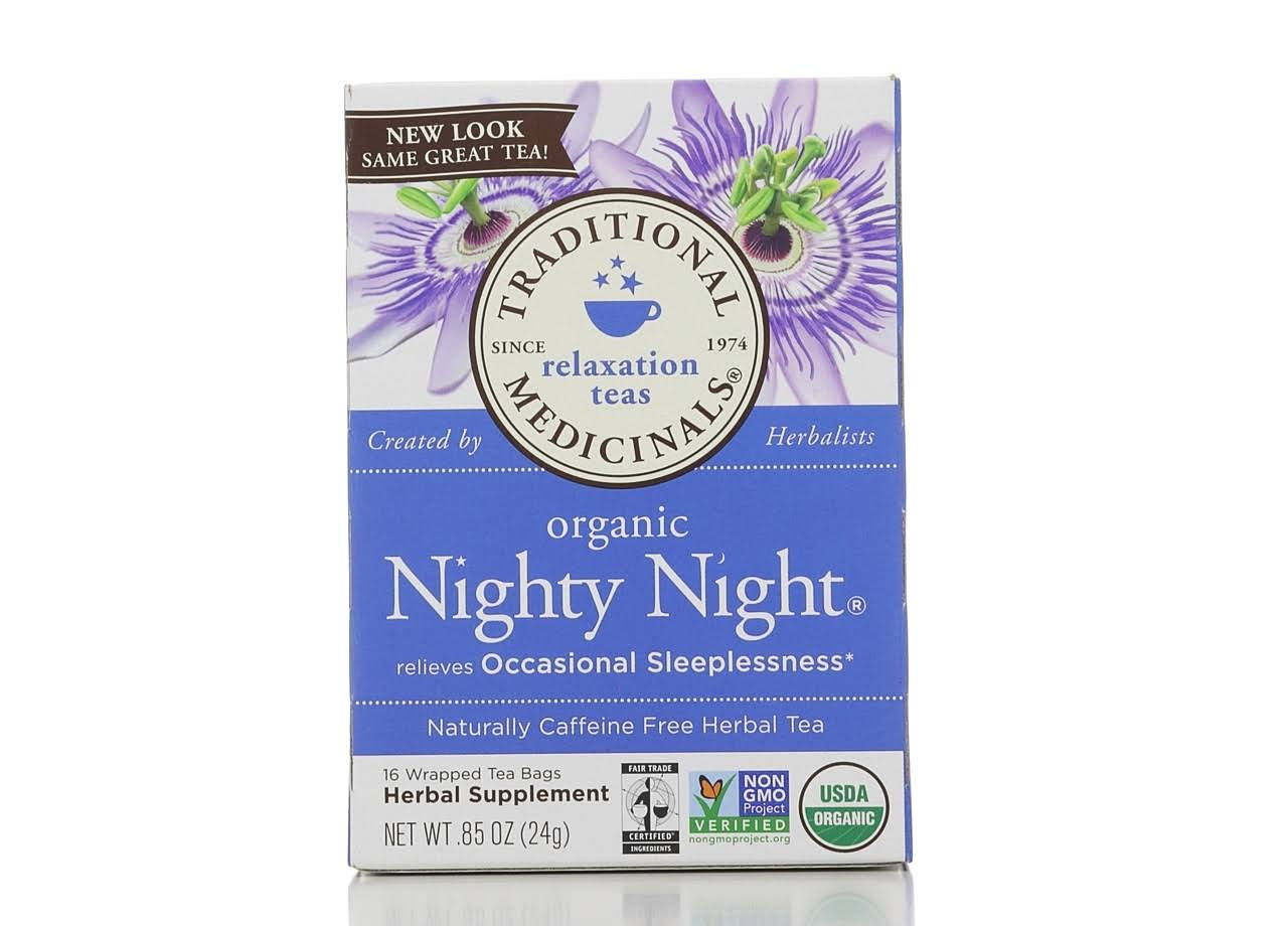 Traditional Medicinals Nighty Night Tea - 16 Wrapped Tea Bags, 24g