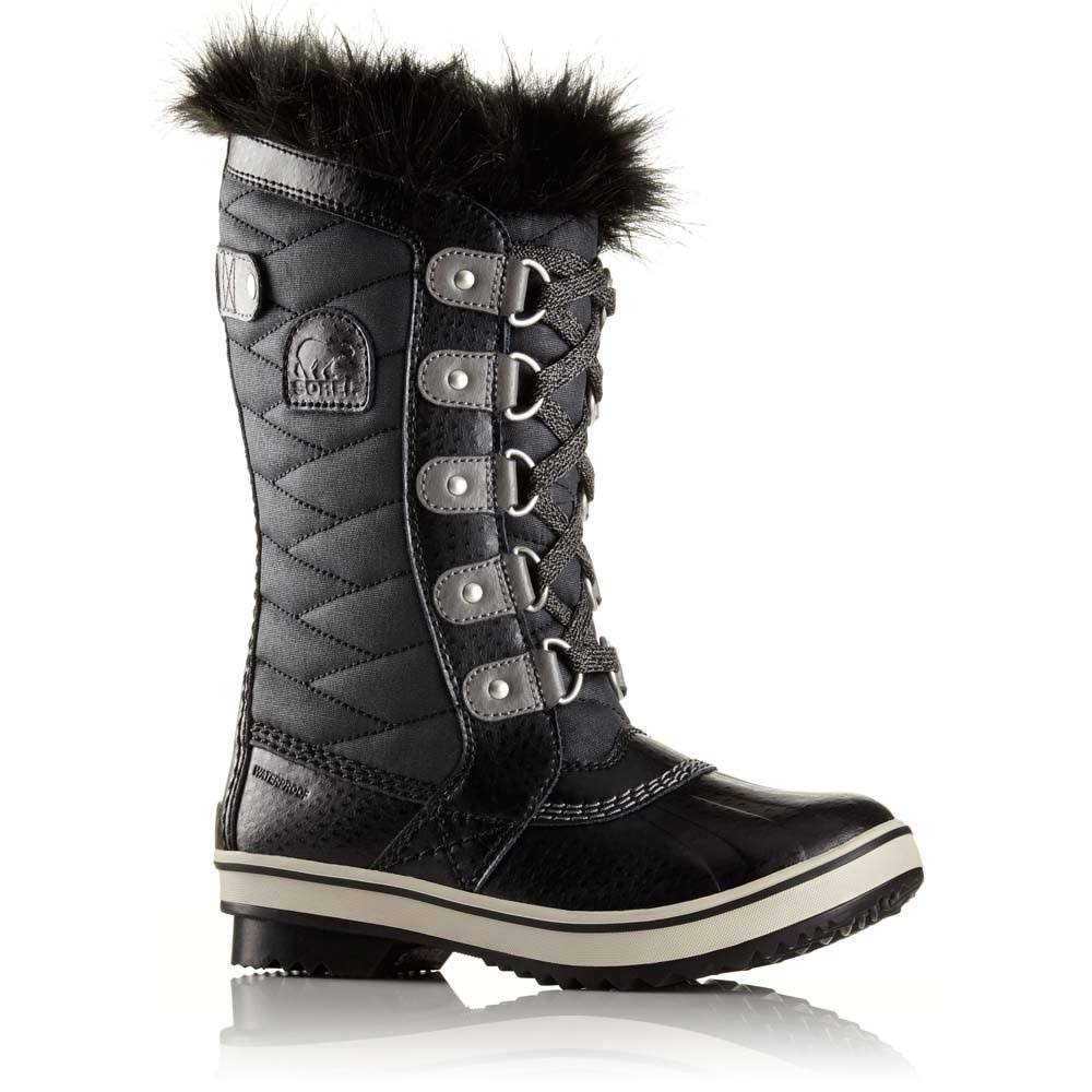 Sorel Girls Tofino II Waterproof Winter Boot - Black, 2 US Big Kid