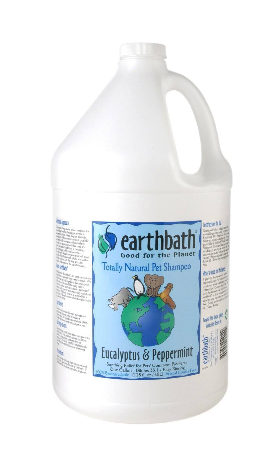 Earthbath Concentrated Shampoo - Eucalyptus and Peppermint, 1 gallon