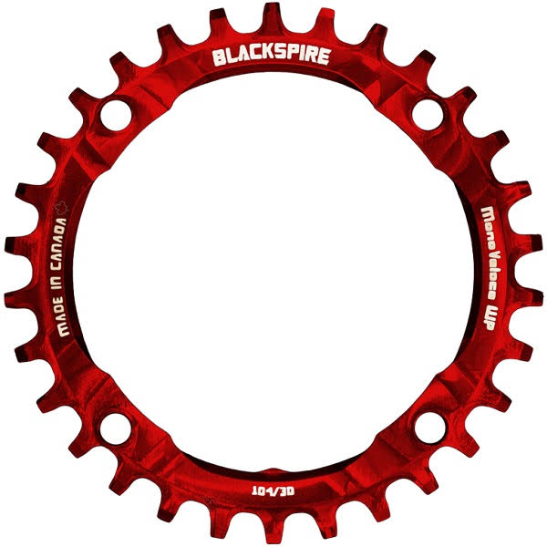 Blackspire Snaggletooth NWP Chainring - Red, 30T