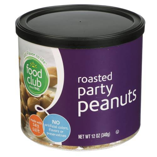 Food Club Peanuts, Size: 12 fl oz