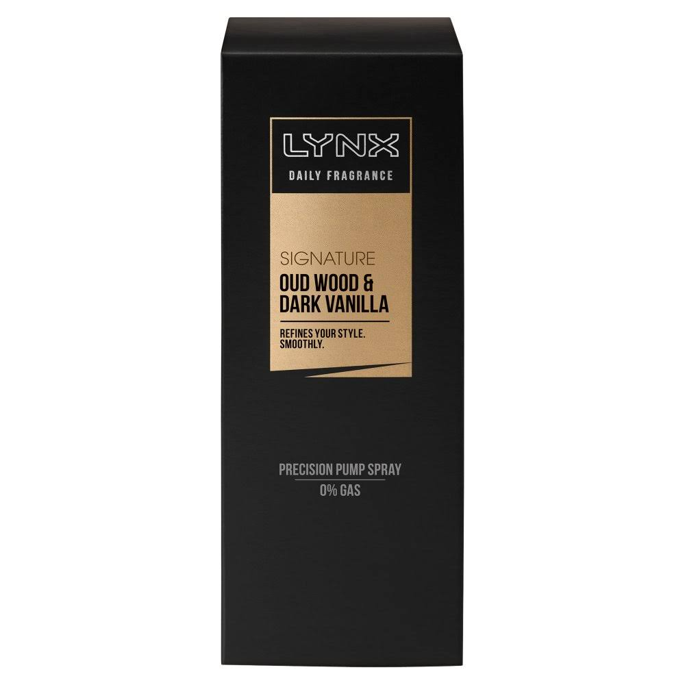 Lynx Signature Oud Wood and Dark Vanilla Daily Fragrance - 100ml