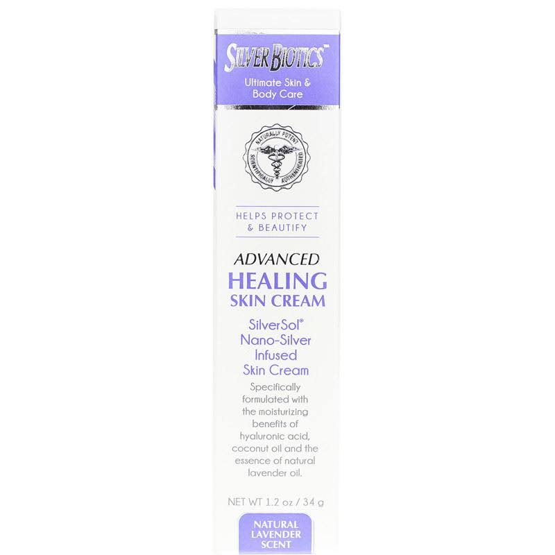 Silver Biotics Advanced Healing Skin Cream Lavender 1.2 oz