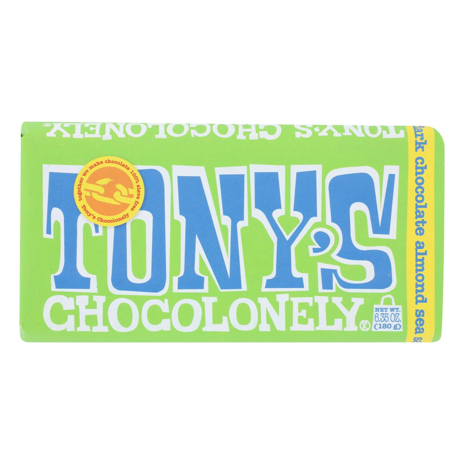 Tonys Chocolonely Dark Chocolate, Almond Sea Salt, 51% Cocoa - 6.35 oz